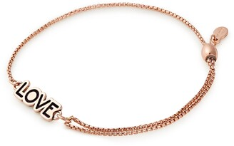 Alex and Ani 14K Rose Gold Plated 'LOVE' Station Bracelet