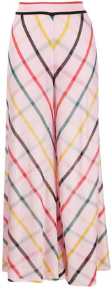 Missoni Wide Leg Checked Knit Trousers