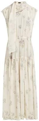 Joseph Ines Sleeveless Silk Dress - Womens - Cream Multi