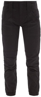 Frame Trapunto Zip-cuff Cotton-blend Trousers - Black