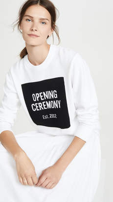Opening Ceremony Box Logo Crew Neck Sweater
