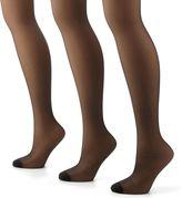 Hanes 3-pk. Silk Reflections Control-Top Silky Sheer Pantyhose