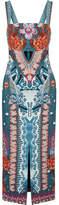 Temperley London Pipe Dream Printed Crepe Midi Dress - Blue