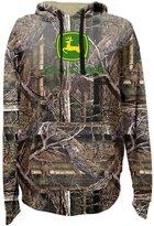 John Deere Western Sweatshirt Mens L/S Fleece Hoodie L Green 14090000