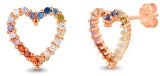 Lesa Michele Crystal Heart Earrings
