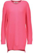 McQ Zip-Embellished Paneled Wool Dress