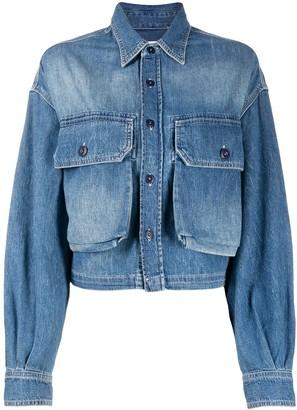 R 13 Stonewashed Buttoned Jacket