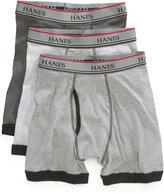 Hanes Platinum Boys' or Little Boys' 3-Pack Contrast-Hem Boxer Briefs