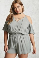 Forever 21 Plus Size Open-Shoulder Romper