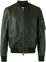 Burberry leather bomber jacket - men - Cotton/Lamb Skin/Polyamide/Cupro - S