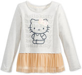 Hello Kitty Layered-Look Graphic-Print Top, Toddler Girls & Little Girls (2T-6X)