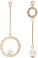 Accessorize Circle Pearl Mismatch Earrings