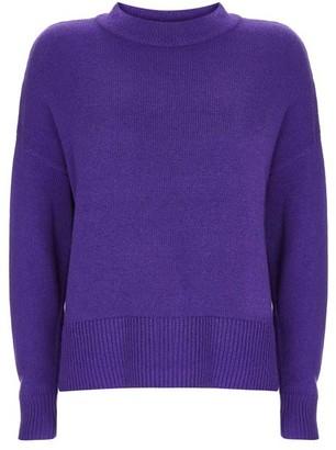 Mint Velvet Purple Zip Cuff Boxy Jumper