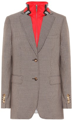 Burberry Checked wool and cotton blazer