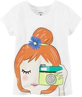 Carter's Girls 4-6x Camera Girl Graphic Tee