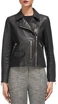 Whistles Agnes Leather Moto Jacket