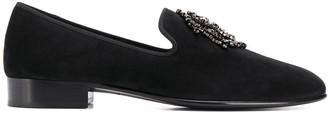 Giuseppe Zanotti Crystal-Plaque Loafers