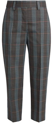 Acne Studios Check Suiting Cropped Trousers