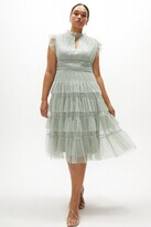 Thumbnail for your product : Coast Curve Tulle Tiered Frill Sleeve Dress