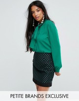 Sister Jane Petite Tie Up Bow Blouse