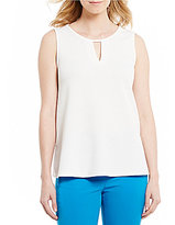 Kasper Textured Knit V-Neck Cami