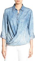 Blank NYC Women's Blanknyc 'Glamper' Wrap Front Shirt