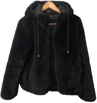 Maje Fall Winter 2018 Blue Faux fur Coats