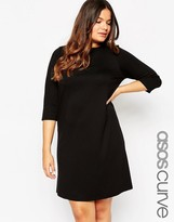Asos Ponte Shift Dress with 3/4 Sleeve