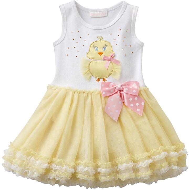 Bonnie Jean chick easter tutu dress - baby