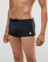 Asos Swim Hipster Trunks In Black With Triangle Logo