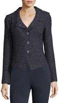 St. John Textured-Bouclé Shimmer Jacket