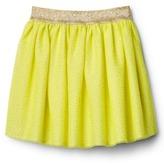 Shimmer neon tulle skirt
