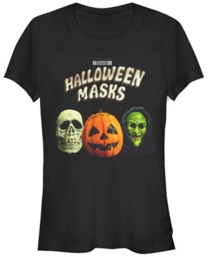 Fifth Sun Halloween 2 Women's Masks Trio Short Sleeve Tee Shirt