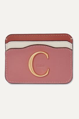 Chloé C Color-block Leather Cardholder - Brick
