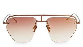 Smoke X Mirrors The Line-1 52MM Aviator Browline Sunglasses