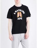 A Bathing Ape Tiger Logo-print Cotton-jersey T-shirt