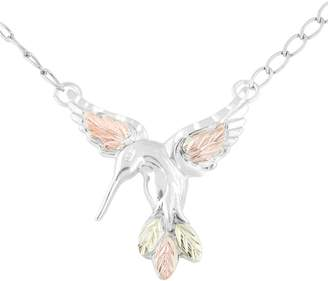 Black Hills Hummingbird Necklace, Sterling/12KGold