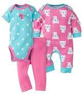 Gerber ; Baby Girls' 3-Piece Coverall, Short-Sleeve Onesie®; & Leggin...