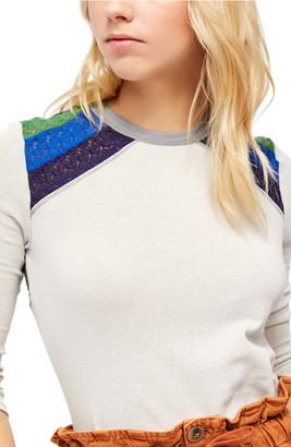 Free People Rainbow Knit Top