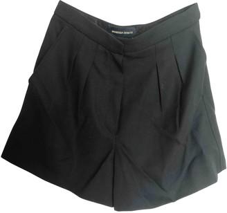 Vanessa Seward Black Wool Shorts