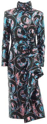 Dries Van Noten Sequinned midi dress