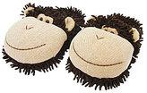 Aroma Home Fuzzy Friend Monkey Slippers