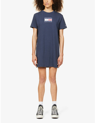 Tommy Jeans Logo-embroidered cotton-jersey T-shirt dress