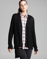 Cardigan - Open Knit High Low