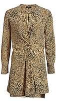 Rag & Bone Women's Shields Silk Print Wrap Dress