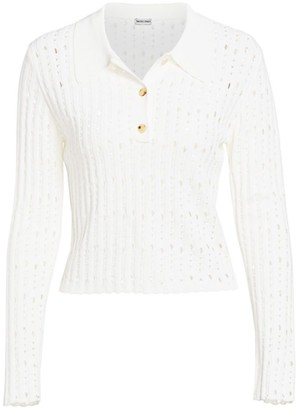Rachel Comey Member Knit Long Sleeve Polo