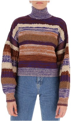 Ulla Johnson Shakina Striped Turtleneck Jumper