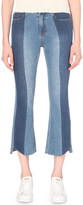 Mo&Co. Slim-fit mid-rise cropped flare jeans