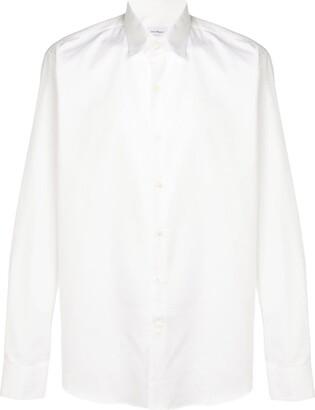 Salvatore Ferragamo logo print shirt