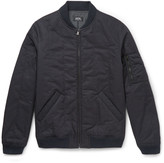 A.p.c. - Padded Cotton-blend Twill Bomber Jacket